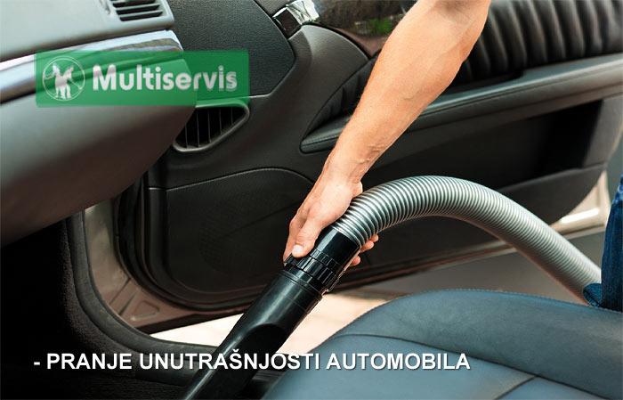 Čišćenje unutrašnjosti automobila